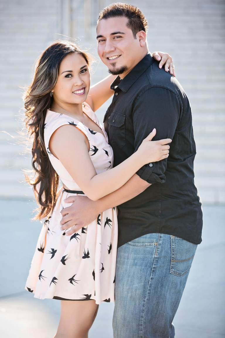 Jen and Gil's Engagement Session at the Walt Disney Concert Hall, Union Station, and LA Live | Los Angeles Wedding Photographers