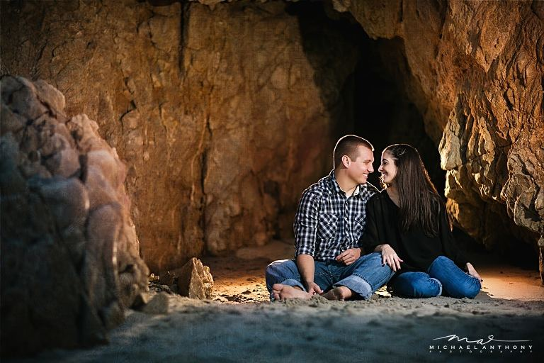 Using off-camera light on location with the Canon 600EX-RT's | El Matador Beach Engagement Session | Los Angeles Wedding Photographers