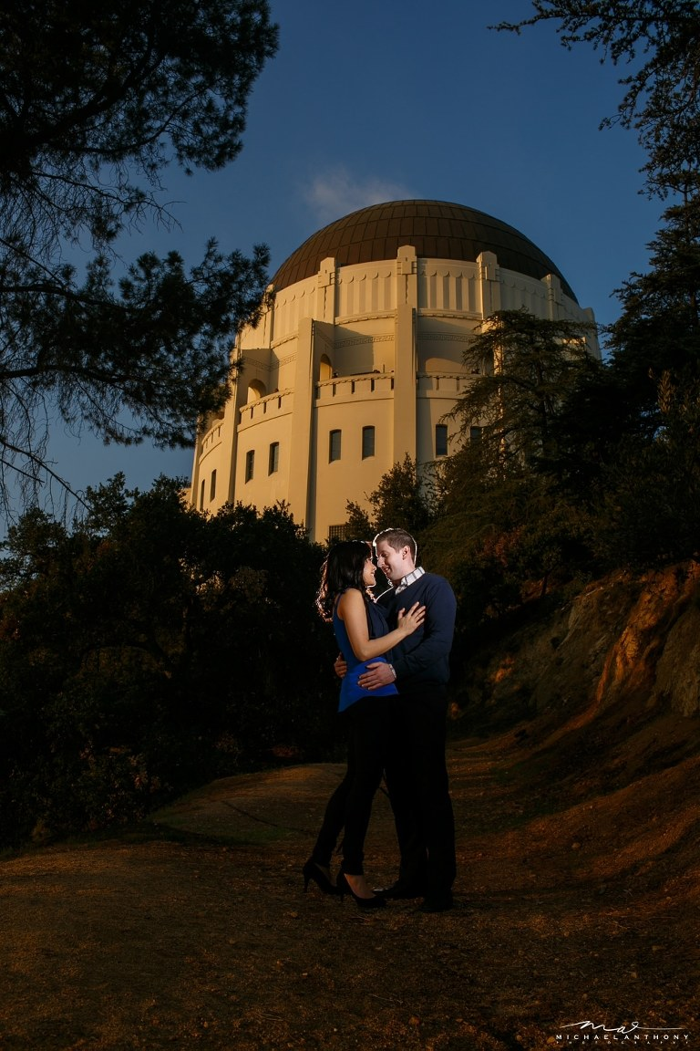 A Grffith Park and LACMA Engagement Session in Downtown LA   Caroline and Don   LA Wedding Photographer