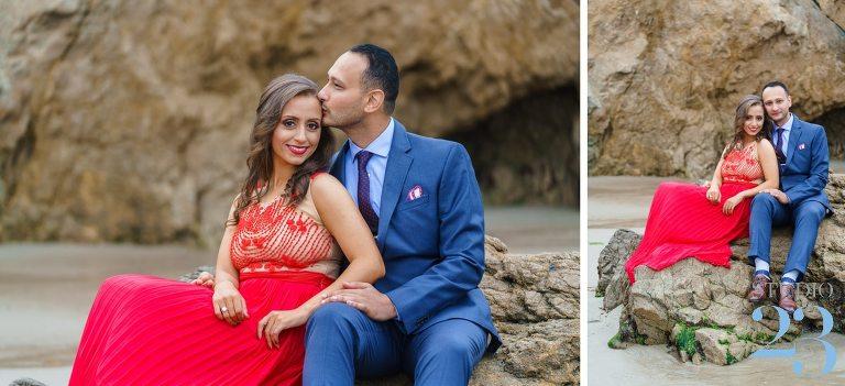 El Matador Beach Engagement Shoot in Malibu